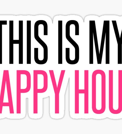 Happy Hour Gym Quote Sticker