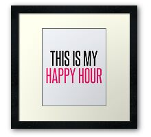 Happy Hour Gym Quote Framed Print