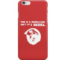 I Rebel (White) iPhone Case/Skin
