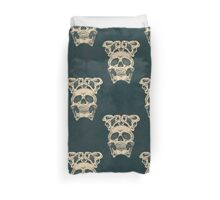 Terrible frightening seamless pattern with skull  Duvet Cover