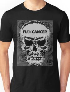 Fuck Cancer // Pixel Skull // Flowers  Unisex T-Shirt