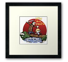 calvin and hobbes meets jason Framed Print