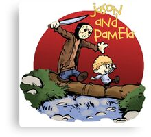 calvin and hobbes meets jason Canvas Print