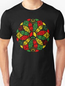 Ornamental Peace Mandala - Rasta Colours Unisex T-Shirt
