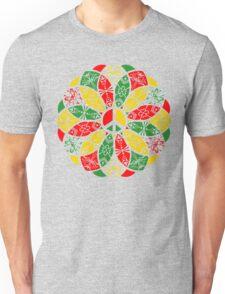 Ornamental Peace Mandala - Rasta Colours T-Shirt