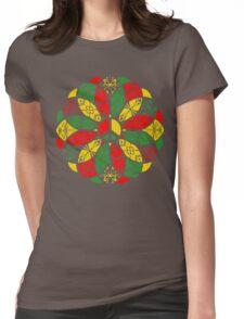 Ornamental Peace Mandala - Rasta Colours Womens Fitted T-Shirt