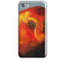 Nectarine, oil painting iPhone Case/Skin