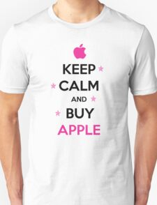 KEEP CALM and buy Apple in pink T-Shirt
