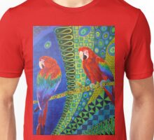 Two Scarlet Macaws Unisex T-Shirt
