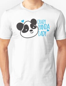 Crazy Panda Lady Unisex T-Shirt