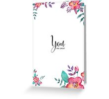 Flowers card Greeting Card