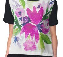 Magenta Floral Chiffon Top