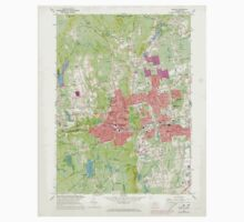 USGS TOPO Map Connecticut CT Bristol 330481 1966 24000 One Piece - Short Sleeve