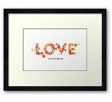flowers love Framed Print