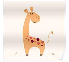 Beautiful Yellow artist Safari Giraffe Poster
