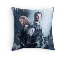 the huntsman and warior Throw Pillow