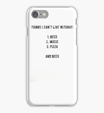 beer, music, pizza iPhone Case/Skin