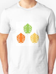 Beautiful Colorful Exotic Leaves CollectionExotic leaves set. Vector cartoon Illustration Unisex T-Shirt