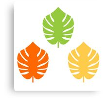Beautiful Colorful Exotic Leaves CollectionExotic leaves set. Vector cartoon Illustration Canvas Print