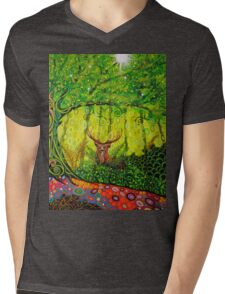 Young Red Deer Stag Mens V-Neck T-Shirt