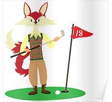 Golf Fox Poster