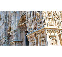 sculptures of south and west facade. Duomo. Milan Photographic Print
