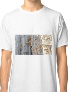 sculptures of south and west facade. Duomo. Milan Classic T-Shirt