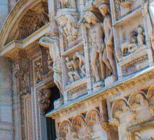 sculptures of south and west facade. Duomo. Milan Sticker
