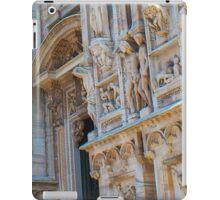 sculptures of south and west facade. Duomo. Milan iPad Case/Skin
