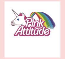 """""""pink Attitude"""" Kids Tee"""