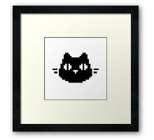 Pixel Meow Framed Print
