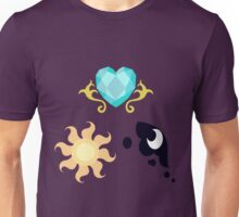 My little Pony - The Three Princesses of Equestria Cutie Mark Unisex T-Shirt