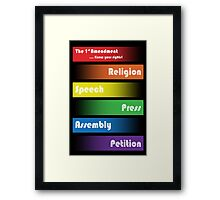 Know Your Rights! Framed Print