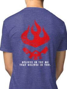 Gurren lagann - Believe in the me that believes in you. Tri-blend T-Shirt