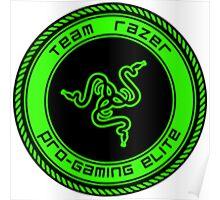 Old Team Razer Logo Poster