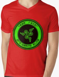 Old Team Razer Logo Mens V-Neck T-Shirt