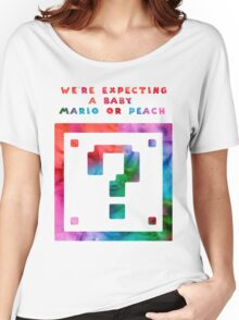 Expecting a Mario or a Peach? Women's Relaxed Fit T-Shirt