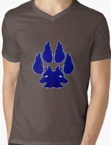 footprints wolf Mens V-Neck T-Shirt
