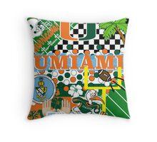 UNIVERSITY OF MIAMI COLLAGE Throw Pillow