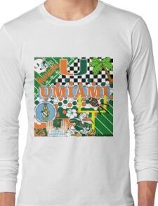 UNIVERSITY OF MIAMI COLLAGE Long Sleeve T-Shirt