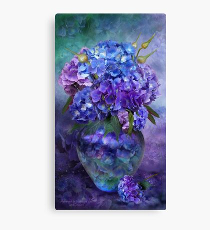 Hydrangeas In Hydrangea Vase Canvas Print