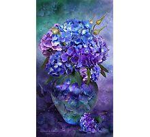 Hydrangeas In Hydrangea Vase Photographic Print