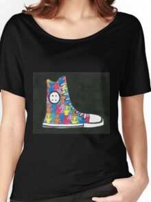 Pete the Cat Loves His Groovy Multi-Colored Shoes Women's Relaxed Fit T-Shirt