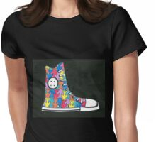 Pete the Cat Loves His Groovy Multi-Colored Shoes Womens Fitted T-Shirt