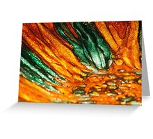 Abstract Orange and Green Greeting Card