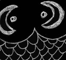 Alien Eyes Black Sticker