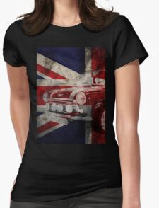 Mini car grunge design Womens Fitted T-Shirt