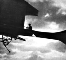 Early Airplane Flight - Backlit Sticker