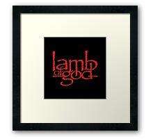 Lamb Of God Metalcore Merch Framed Print