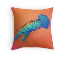 Psychedelic Jellyfish Throw Pillow